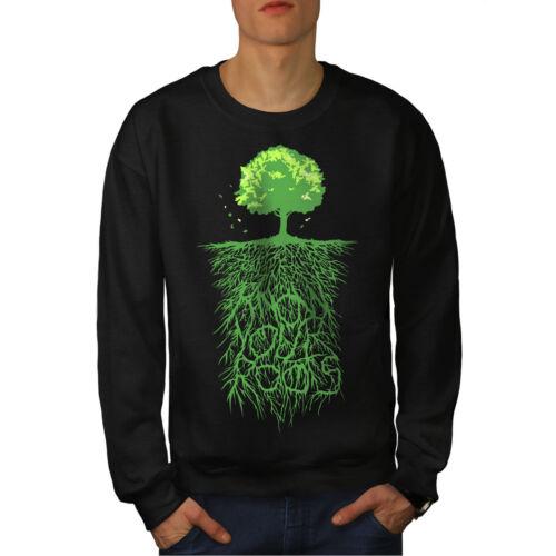New Earth Tree Black uomo Nature da Felpa Roots UqFHYwEPPS