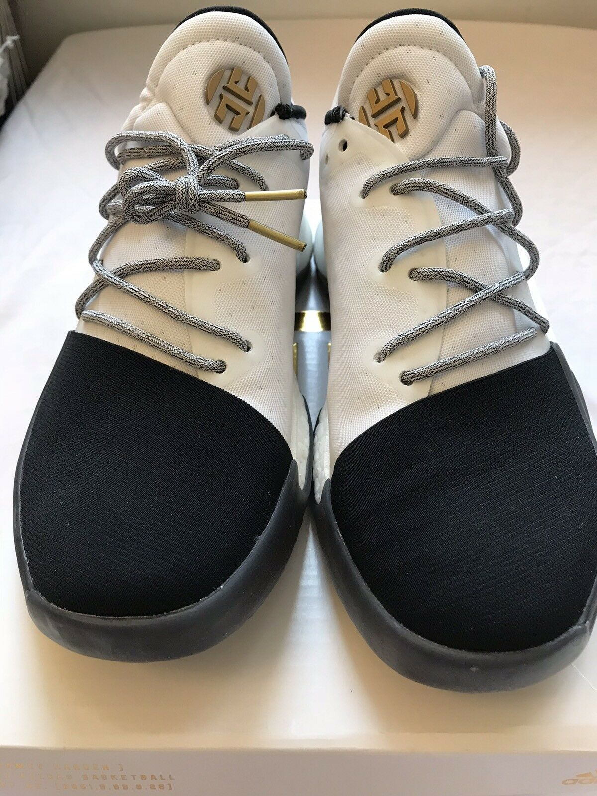 4732822b76d3 Adidas Adidas Adidas James Harden Vol 1 White Black gold BY3481 Basketball  shoes Size 5 a00db5