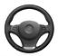 Negro Cuero Artificial Cubierta Del Volante Para BMW E83 X3 2003-2010 E53 X5
