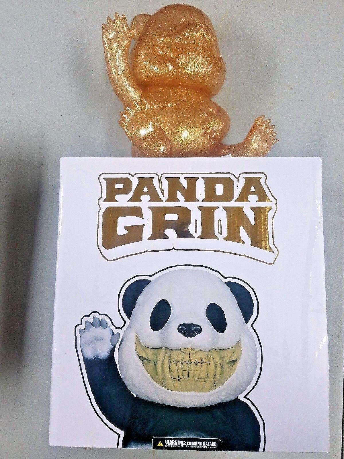 Ron English Copper Gold Panda Grin SDCC 2017 Popaganda Exclusive Mindstyle