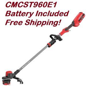 Craftsman V60 60 Volt Max 15 In Straight Cordless String Trimmer Cmcst960e1 885911595117 Ebay