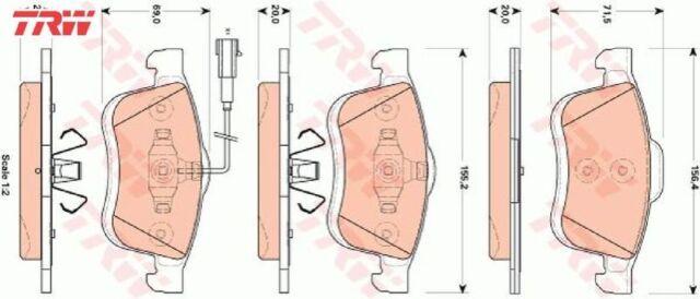ATE Bremsbeläge vorne Fiat Doblo Lancia Delta Opel Combo