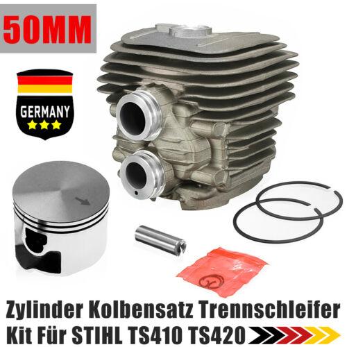 50mm Zylinder Kolbensatz Kolbenringe Trennschleifer Kit Für STIHL TS410 TS420