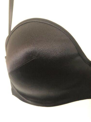 Strapless Padded Balcony Bra Black 34B RRP £85.00 94/% Silk BNWT Myla Body Silk