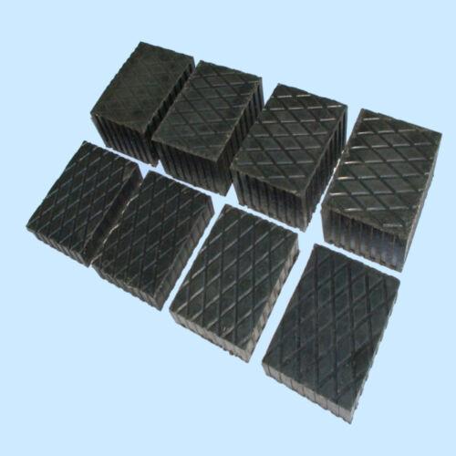 Gummiauflage Gummiblock Hebebühne Satz mit 8 Stück 160x120x60 u 140x110x20