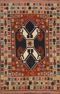 Tribal Geometric Anatolian Turkish Oriental Area Rug Handmade Wool Carpet 6'x8'