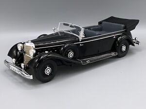 schwarz 1938  1:18 MCG 18207  *NEW* Cabriolet Mercedes 770 W150