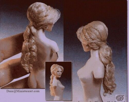 1:12 scale miniature Doll Tutorial-Pattern-Instructions Wig//Hair only for Lanny