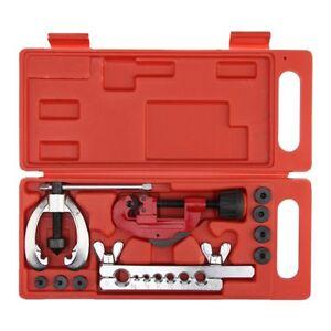 W8F9-Copper-Brake-Fuel-Pipe-Repair-Double-Flaring-Dies-Tool-Set-Clamp-Kit-Tube-C