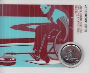 Wheelchair Culrling 2007 25-cent Olympic Canada Coin Card Petro Canada