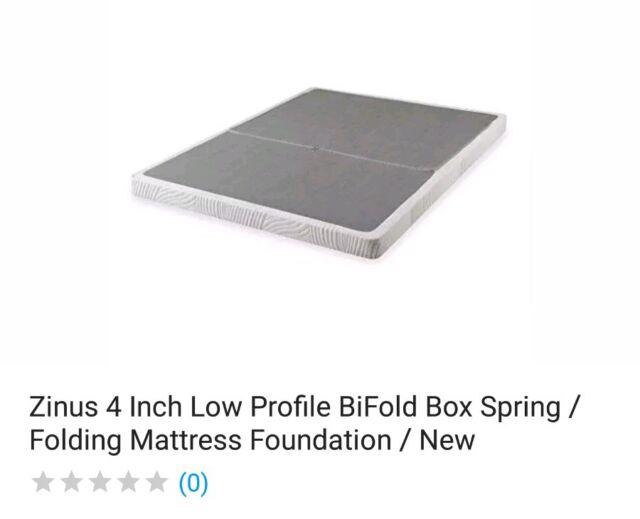 Zinus 4 Inch Low Profile Bifold Box Spring Folding