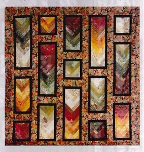 Autumn-Braid-pieced-quilt-PATTERN-for-2-5-034-strips-Cozy-Quilts-2-sizes