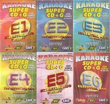 Chartbuster Karaoke Essentials 450, 6 CAVS Super CD+G, 2700 Songs ALSO in MP3+G