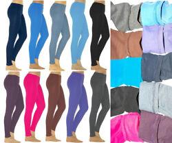 Thermo Leggings leggins Hose lang aus Baumwolle Fleece warm dick weich