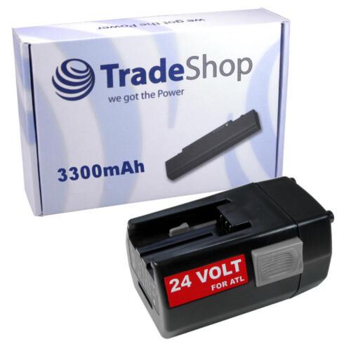 Batterie 24v 3300mah pour AEG Milwaukee bbh24 bxl24 bxs24 mxl24 sh04-16 sh04-17 mxs24