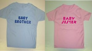 Boys-Girls-Personalised-Baby-Little-Brother-or-Sister-T-Shirt-Add-Name-on-Back