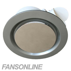 Image Is Loading Ventair Airbus Ceiling Exhaust Fan Silver Low Profile