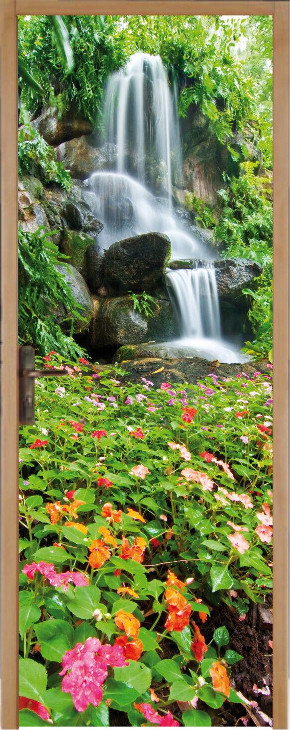 Adhesivo para Puerta Plana Cascada de Agua 83x204cm Ref 171