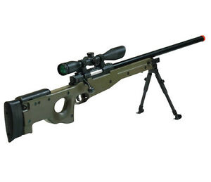 NEW-UTG-MK96-L96-AWP-AWM-AIRSOFT-SNIPER-RIFLE-GUN-OD-GREEN-w-SCOPE-6mm-BB-BBs
