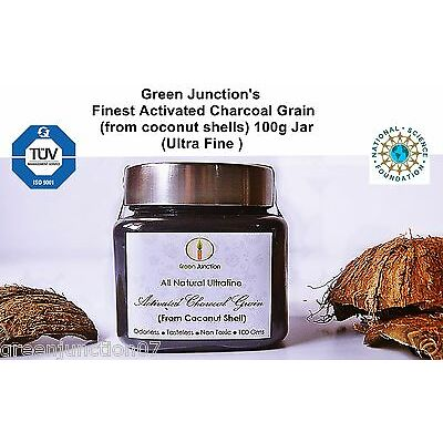 ★GJ's Ultra Fine Grain  Activated Charcoal Powder( coconut shells ) 100 g Jar★