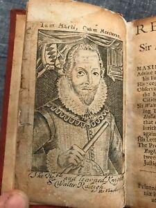 Remains of Sir Walter Raleigh Rare Antiquarian Book 1681