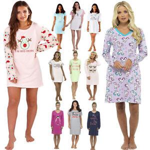 Ladies Long Short Sleeve Nightdress T Shirt Slogan Nighty Nightshirt ... e3218815c