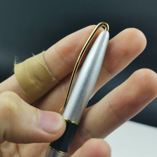 Old Stock Vintage OEM Silver Fountain Pen Special Clip Aerometric Pen 2011S