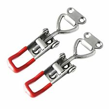 Cukayo 2pcs Toggle Latch Clamp 4001 Adjustable 304 Stainless Steel Pull Hasp