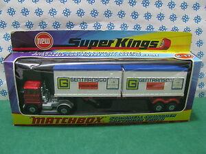 Camion Conteneur Scammell Crusader - Matchbox Super Kings K-17