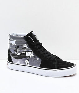 bfad3016b8 NEW! Vans x Disney Sk8-Hi Mickey Plane Crazy Black   White Shoes ...