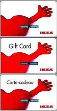 3x IKEA SHARE YOUR LOVE HOLIDAY FURNITURE 3 VARIATIONS COLLECTIBLE GIFT CARD LOT