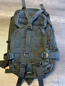 Military-Tactical-Molle-Black-Backpack-Rucksack-Bugout-Bag-Used