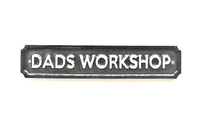 SMALL OVAL ENAMEL METAL DADS SHED WALL DOOR SIGN PLAQUE DOOR SIGN FATHER PA