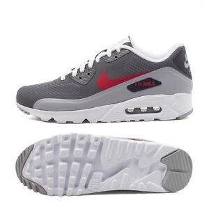 Details about Nike Air Max 90 Ultra Essential 819474 006 Mens Sz 13 DARK WOLF GREY GYM RED