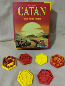 Pick your custom colors 4-6 pieces 3D printed Settlers of Catan Piece holders