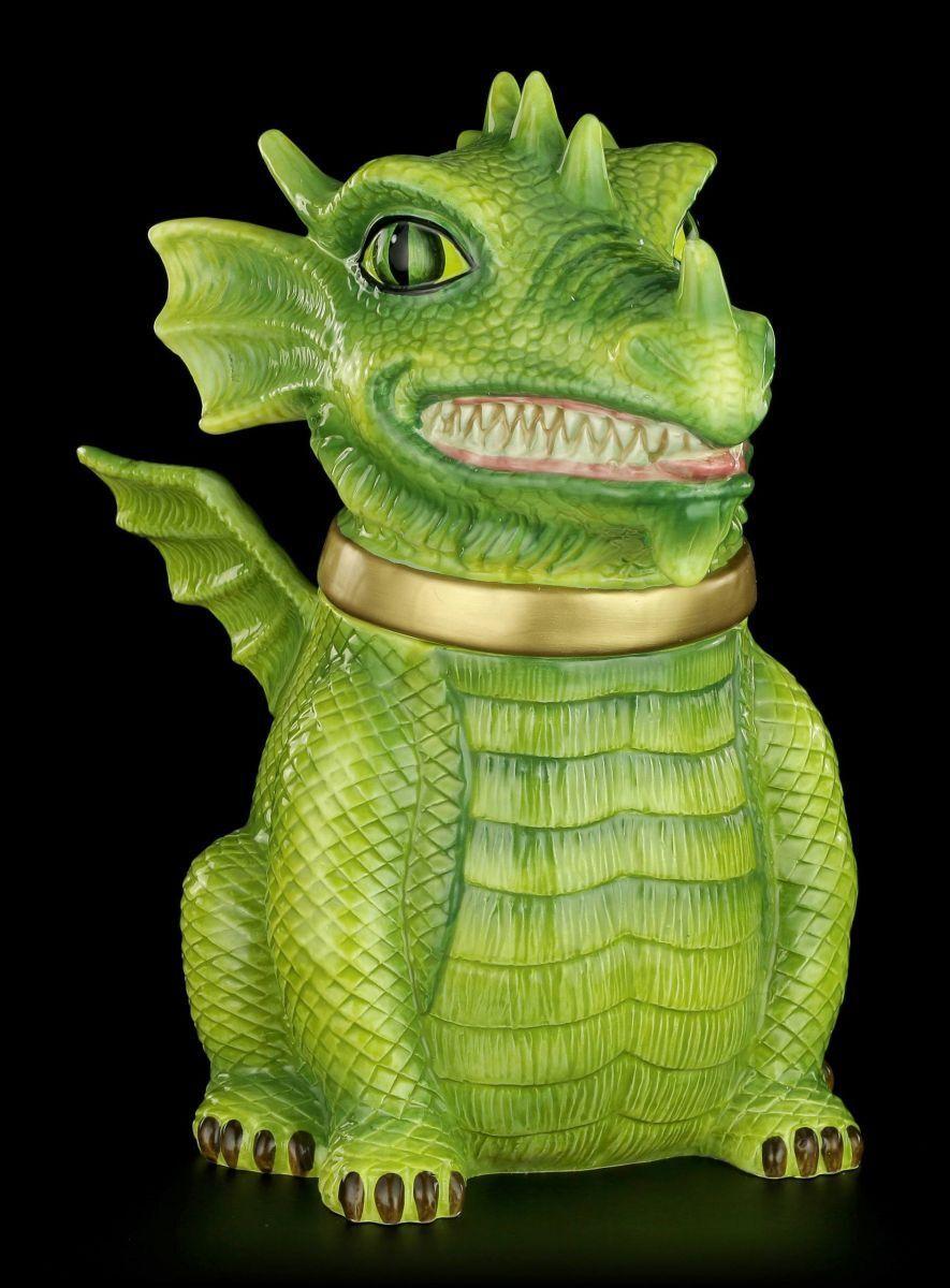 Dragones Caja Galletas - Fantasy Hausdrache Schatullel Box Decoración