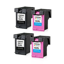 4 pk For HP 61 XL Ink Cartridge Combo CH563WN CH564WN Black & Color 61XL