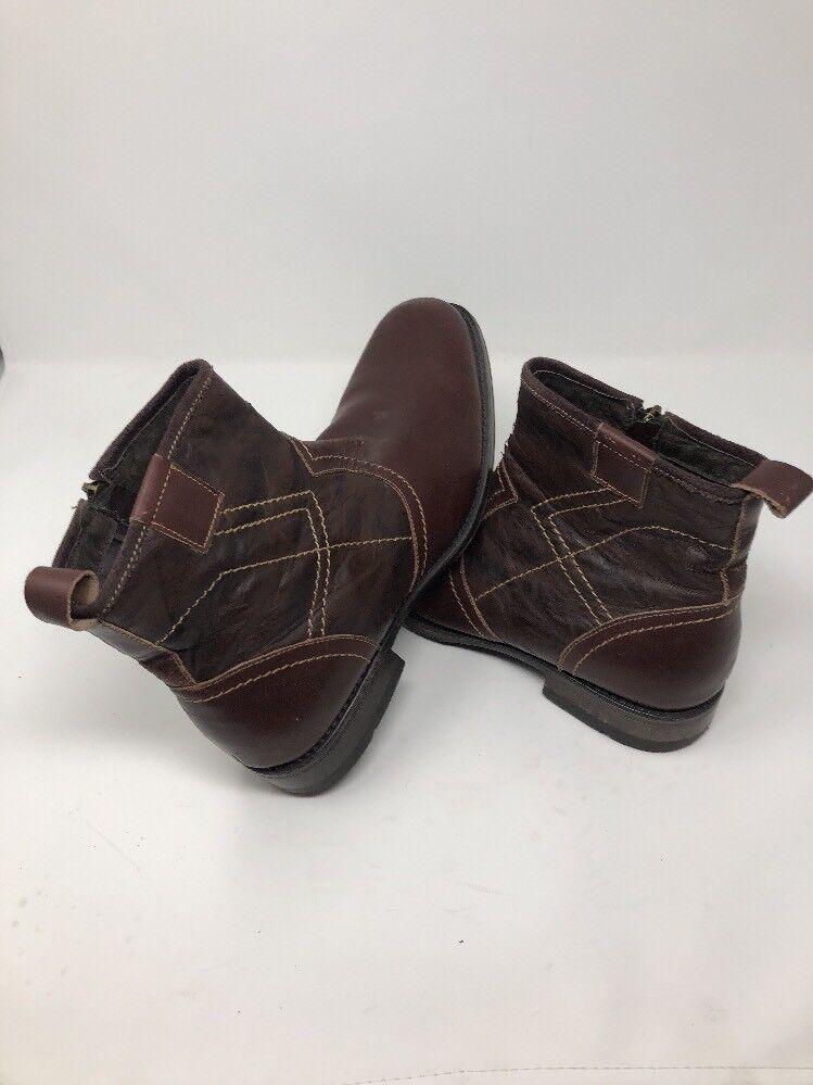 Steve Madden P- Dreem Ankle Braun Leder Side Zip Ankle Dreem Stiefel --  Uomo Sz 10.5 9b7554