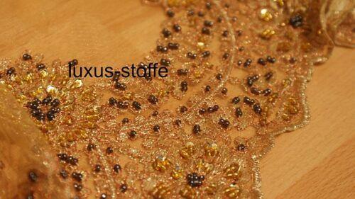 Couture Stoff für Dirndlschürze HANDARBEIT Dirndlstoffe Paillettenstoffe KT428