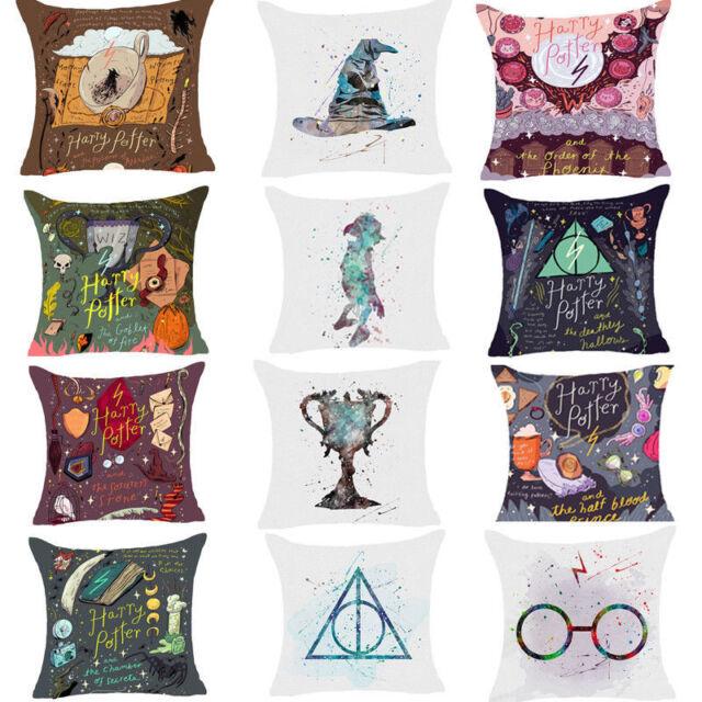 Cartoon Harry Potter Polyester Cushion Cover Sofa Throw Pillow Case Decor 18