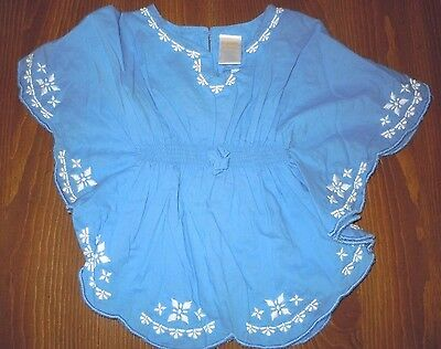 Gymboree Embroidered Peasant Blouse Batwing Tunic 100% Cotton Toddler 18m EUC
