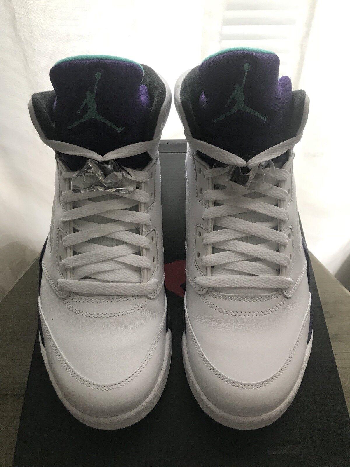 Nike Air Jordan 5 Retro White Grape Size 8