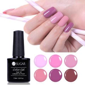 7-5ml-Soak-Off-UV-Gel-Nail-Polish-Pale-Mauve-Pink-Gel-Varnish-DIY-UR-SUGAR