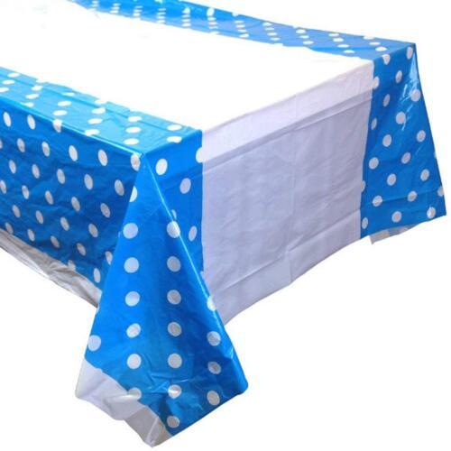 Polka Dot Sky Polka Dot Plastique Table Housse Jetable Fête Nappe coversuk