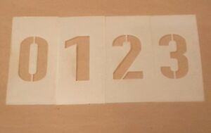 Number Set Stencil 0-9 & two dashes - Parking lot and Arts & Crafts
