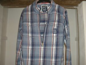 8bede061 Superdry Shirt In Men`s Medium with a half zipper & double breasted ...