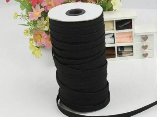 1M x 6MM Nero Elasticizzato piatto elastico in vita BAND fai da te TESSUTI DA CUCIRE Pantaloni in Gomma