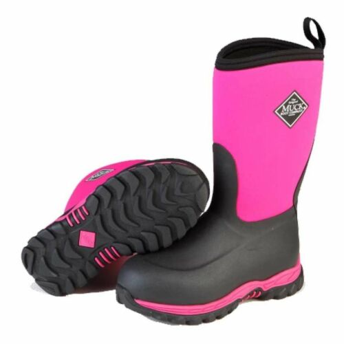 Muck Boot Rugged II Youth Outdoor Sport Boot RG2-400 Pink /& Black