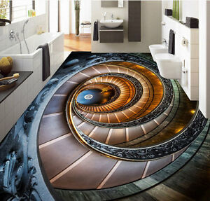 Image Is Loading 3D Amazing Spiral Stair Art Floor Mural Photo