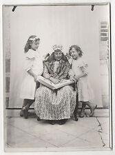 PHOTO Vers 1910 Enfants Studio Extérieur Déguisement Insolite Curiosité Album